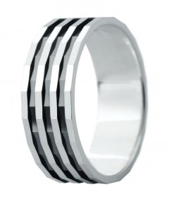 Snubní prsten Eliška 3 bílé zlato