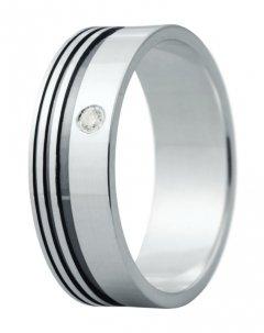 Snubní prsten Eliška 4 bílé zlato