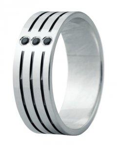 Snubní prsten Eliška 5 bílé zlato