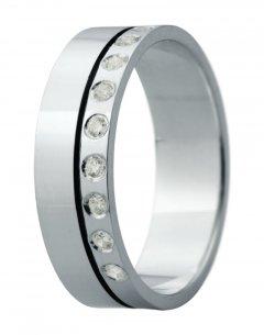 Snubní prsten Eliška 6 bílé zlato