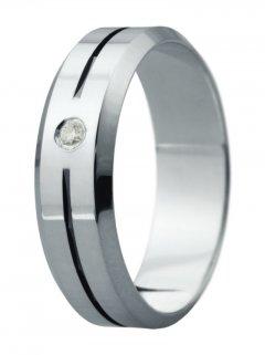 Snubní prsten Eliška 7 bílé zlato