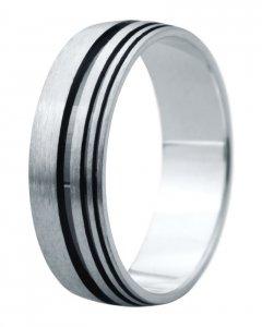 Snubní prsten Eliška 8 bílé zlato