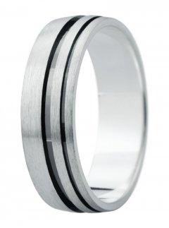Snubní prsten Eliška 9 bílé zlato