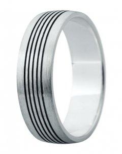 Snubní prsten Eliška 10 bílé zlato