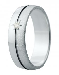 Snubní prsten Eliška 11 bílé zlato