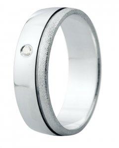 Snubní prsten Eliška 12 bílé zlato