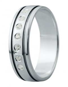 Snubní prsten Eliška 13 bílé zlato