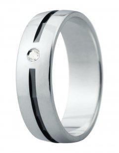 Snubní prsten Eliška 14 bílé zlato