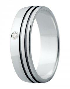 Snubní prsten Eliška 15 bílé zlato