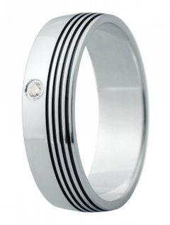 Snubní prsten Eliška 16 bílé zlato