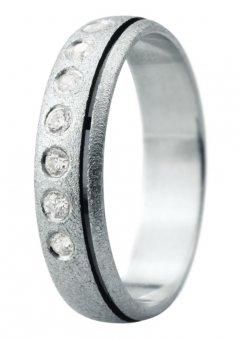 Snubní prsten Eliška 17 bílé zlato
