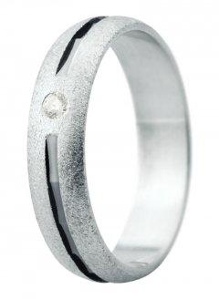 Snubní prsten Eliška 18 bílé zlato