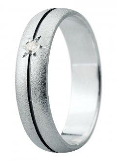 Snubní prsten Eliška 19 bílé zlato