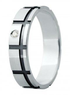 Snubní prsten Eliška 21 bílé zlato