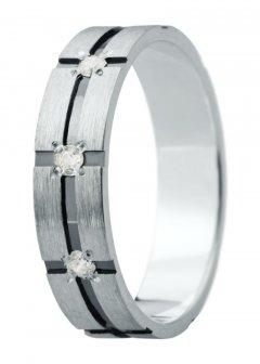 Snubní prsten Eliška 22 bílé zlato