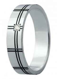 Snubní prsten Eliška 23 bílé zlato