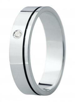 Snubní prsten Eliška 24 bílé zlato