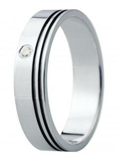 Snubní prsten Eliška 25 bílé zlato