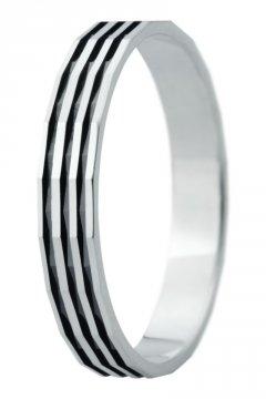 Snubní prsten Eliška 26 bílé zlato