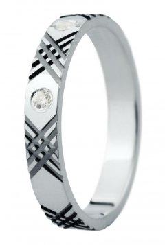 Snubní prsten Eliška 27 bílé zlato