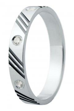 Snubní prsten Eliška 28 bílé zlato