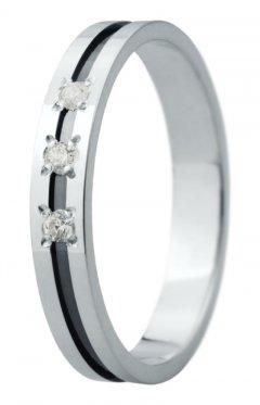 Snubní prsten Eliška 29 bílé zlato