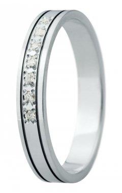 Snubní prsten Eliška 30 bílé zlato