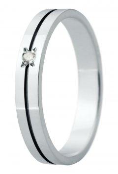 Snubní prsten Eliška 31 bílé zlato