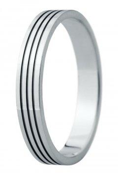 Snubní prsten Eliška 32 bílé zlato