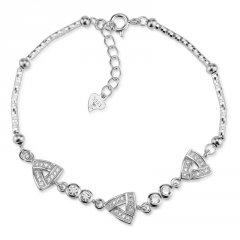 Stříbrný náramek s trojúhelníky