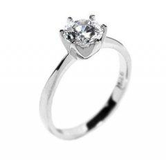Jemný stříbrný prsten se zirkonem Swarovski