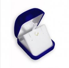 Krabička na šperky sametová modrá