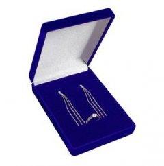 Krabička na soupravu sametová modrá
