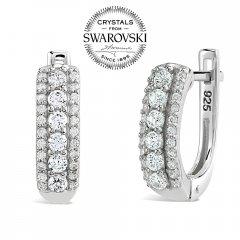 Stříbrné náušnice CHANTAL se Swarovski® Zirconia