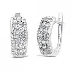 Luxusní stříbrné náušnice REINA