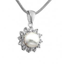 Elegantní stříbrný přívěsek s bílou perlou