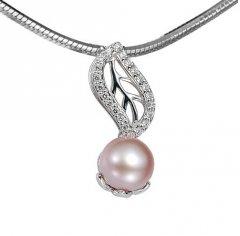Stříbrný přívěsek s perlou a křišťály