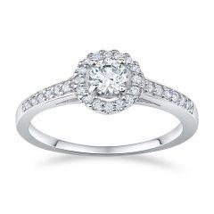 Stříbrný prsten se zirkony AMELIA