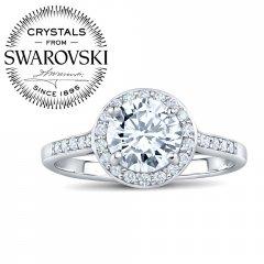 Stříbrný prsten SKYE se Swarovski® Zirconia