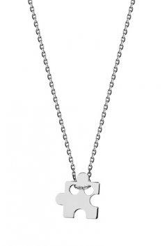 Stříbrný náhrdelník - puzzle