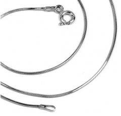 Stříbrný řetízek hádek osmihran 45 cm