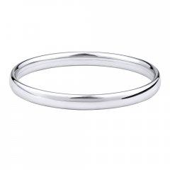 Stříbrný kruhový náramek 7 mm
