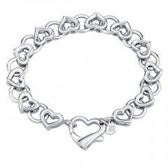 Luxusní stříbrný náramek LOVE