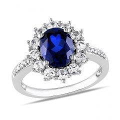 Stříbrný prsten princezny Kate 12 mm