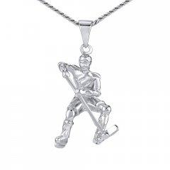 Stříbrný přívěsek hokejista