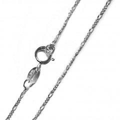 Jemný stříbrný řetízek figaro 40 cm