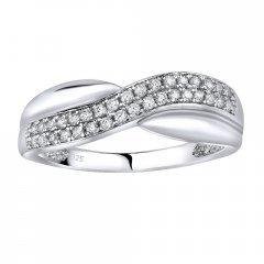Stříbrný prsten CHARLOTTE se zirkony
