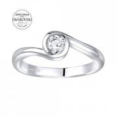 Elegantní stříbrný prsten se Swarovski Zirconia®