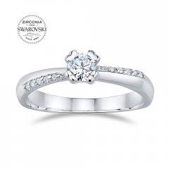 Decentní stříbrný prsten se Swarovski Zirconia®