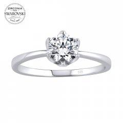 Stříbrný prsten PRINCESS se Swarovski Zirconia®